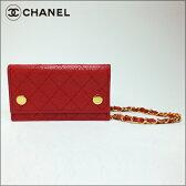 CHANEL シャネルキャビアスキンチェーン ウォレット中古 送料無料 美品 ヴィンテージ 財布