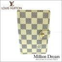 LOUIS VUITTON ルイヴィトンダミエ アズール ホワイト 白アジェンダPM R20706【中古】