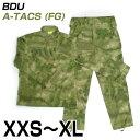 BDU 上下セット 迷彩服 A-TACS FG 送料無料 サバゲー 装備