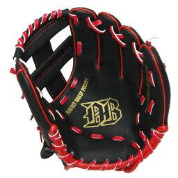少年野球グラブ 9インチ BK #2172 ミッド グローブ キャッチボール 公園 黒 ジュニア ベースボール お手軽 入門 レッド