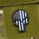 パッチ 【Punisher US FLAG】 PVC ベルクロパッチ ワッペン サバゲー 装備 ミリタリー