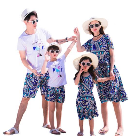 3着送料無料!親子お揃い カップル 上下セット 短袖Tシャツ メンズ レディース Tシャツ ハート柄 ユニセックス おそろい親子服 兄弟 姉妹 ビーチ ペアルック 親子 ペアTシャツ 出産祝い 誕生日プレゼント 子供と親子お揃い服を!セットアップ ワンピース 子供 キッズ