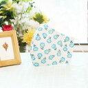 (女性用) ポケット付き♪ 3重構造の立体マスク 洗える 布マスク 日本製 /Blooming blue flowers