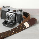 I am pretty in camera girls! Girl camera strap / Mocha dot [easy ギフ _ packing]