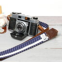 I am pretty in camera girls! Girl camera strap / navy dot race [easy ギフ _ packing]