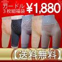 【送料無料】超特価デイリー用ロング『ガードル』3枚組(福袋)