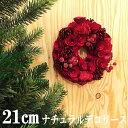 クリスマスリース 21cmナチュラルデコリース