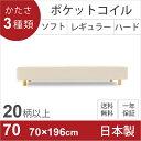 【週末限定10%OFF+クーポン付き】【組立設置無料】70×196cmサイズ 日本製ポケットコ