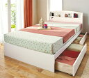 【アウトレット】セミダブルサイズ ナチュラル色 日本製シンプル収納ベッド コンセント付き フレームのみでの販売の為、マットレスは付属しません【送料無料】