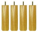 〔単品購入用〕脚付きマットレスベッド用木脚20cmナチュラル4本セット(1台分)