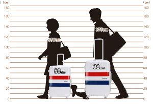 スーツケース≪B1133T/Tricolore≫58cmSサイズ(約2日〜3日向き)中型フレームタイプTSAロック付日乃本製キャスター搭載トリコロール柄マリン柄【送料無料&1年保証付】【同梱対象】40%OFFセール
