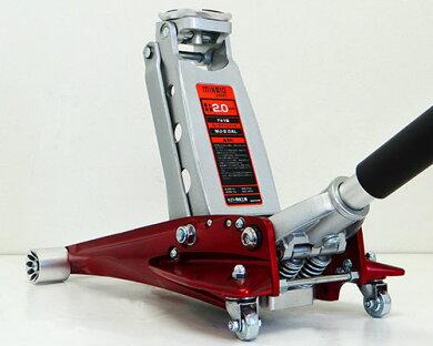 アルミ製ローダウンジャッキ2tMJ-2.0AL(低床87mm)[2トンアルミジャッキ油圧ジャッキ][r10][s40]