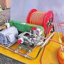 ミナト 中型3連動噴 QP-PS25セット 《三相200V3HPモーター+50mホースリール付》 [エンジン式 動噴 噴霧器 噴霧機][r12][s4-060]