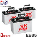 スリーキング サイクルバッテリー EB65 (L型/T型) 《3台セット》 [3K ディープサイクルバッテリー ゴルフカート 電動運搬車 電動車椅子 フォークリフト バッテリーウェルダー][r11][s4-050]