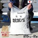トクヤマ 融雪剤 塩化カルシウム 25kg 《お得2袋セット》 (保管しやすい米袋入り)