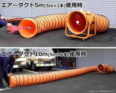 ミナト強力ダクトファンMDF-400(ダクト使用時)