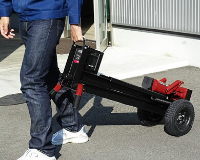 ミナト手動式油圧薪割り機LS-12t(破砕力12トン)[手押し式薪割り機薪割機斧][r10][s50]