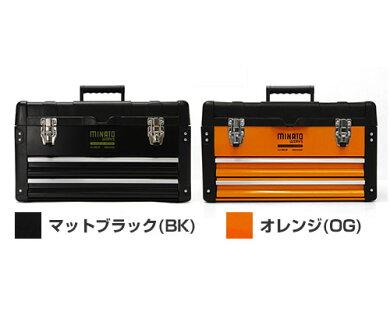 ミナト3段式ツールボックスTB-30(引き出し付き/最大荷重35kg)[工具箱ツールチェスト][r10][s10]