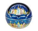 ヴィンテージ おしゃれ ロシアのお城 ふた付 灰皿 アシュトレイ 飾り物 インテリア 置物 (シルバー+ブルー) 【送料無料】ctr-h59