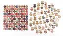 ウッドボタン 約150個セット ネコ 30×20mm / 丸 花柄 20mm 2つ穴 飾り ボタン 裁縫 木製 猫 手芸 【送料無料】mmk-m69