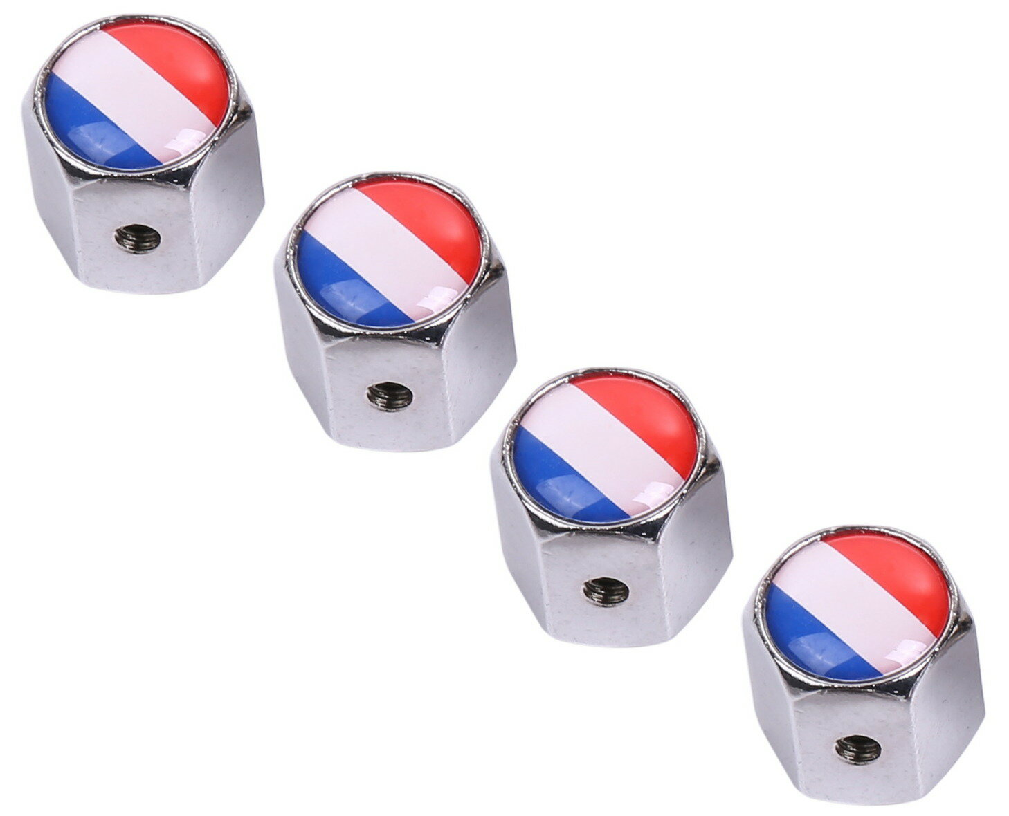 フランス国旗エアバルブキャップ金属車盗難防止タイヤエアバルブキャップ4個セット送料無料mri-a03
