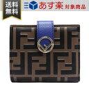 フェンディ 財布 レディース FENDI 8M0386 AAII F1B13 エフ イズ フェンディ 二つ折り財布 レザー ブルー ブラウン