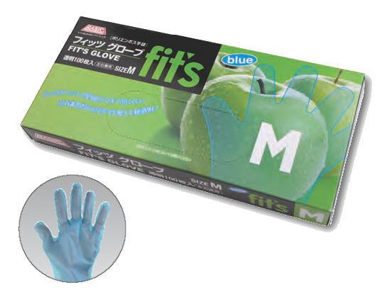 フィッツグローブブルーS・M・Lサイズ(100枚)スズカコーポレーション激安混載10300円以上のお