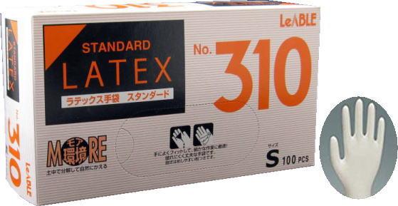 リーテックNo310ラテックススタンダード粉付S手袋(100枚入)激安ラテックステ手袋キッチン用品・