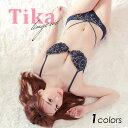 下着 下着 レディース セット セクシー Tika ティカ ブラ ショーツ セット 刺繍 ネイビー A70 A75 B65 B70 B75 B80 C65 C70 C75 C80 D6..