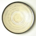 I fly in the small Shikada ware Tomio Kuroki kiln eight sun plate and make hole through the plane edge (container of , the people art)