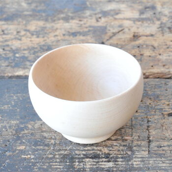 Japanese wooden bowl middle (beech tree, made in Japan)