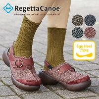 RegettaCanoe-リゲッタカヌー-CJEG-5299エッグヒールツイードコンビバックベルト付きサボ