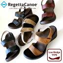 Regetta Canoe -リゲッタカヌー-CJLW-5501 ウェッジヒール デニム生地ウェッジサンダル