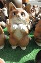 置物ネコ信楽焼き  幸福まねき 猫です。