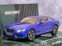 BENTLEY - ミニチャンプス 1/43 ベントレー コンチネンタル GT V8 / ブルー メタリック