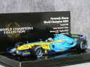 ミニチャンプス 1/43 ルノー F1 R25 / フェルンナンド・アロンソ 2005年 ワールド チャンピオン 【 ワールド チャンピオン コレクション 】