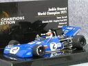 ミニチャンプス 1/43 ティレル 003 / ジャッキー スチュワート 1971年 ワールド チャンピオン