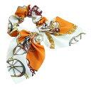 シュシュ リボン キレイめ スカーフ パール フェミニン 髪飾り ヘアゴム ヘアアクセサリー