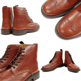 LockingShoesロッキンシューズbyFootMonkeyフットモンキーWINGTIPUNCLEBOOTS916(ウィングチップブーツ)ブラウン