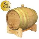 天使のミニ樽 3リットル(ゴールド6本タガ)