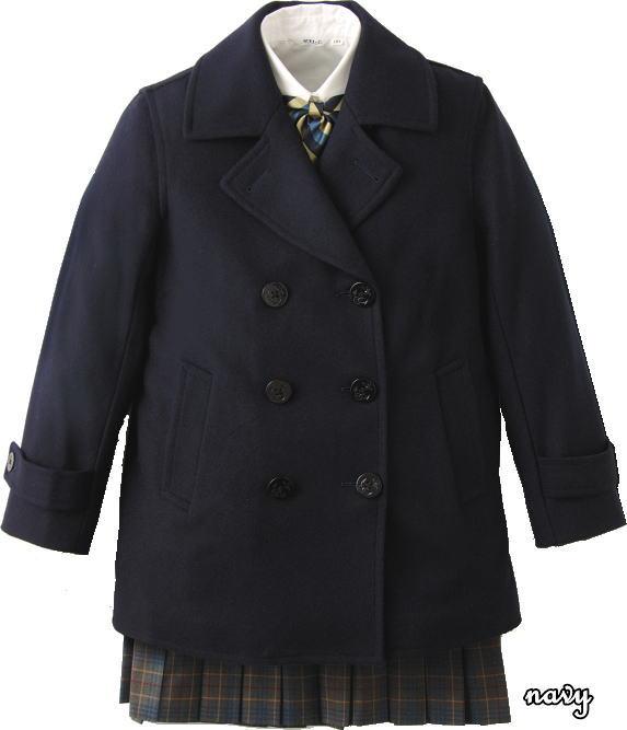 定番Pコート 紺【男女兼用】スクールコート(ピーコート)スタンダードなデザインで長年愛されている学生コート 【マフラープレゼント中♪】