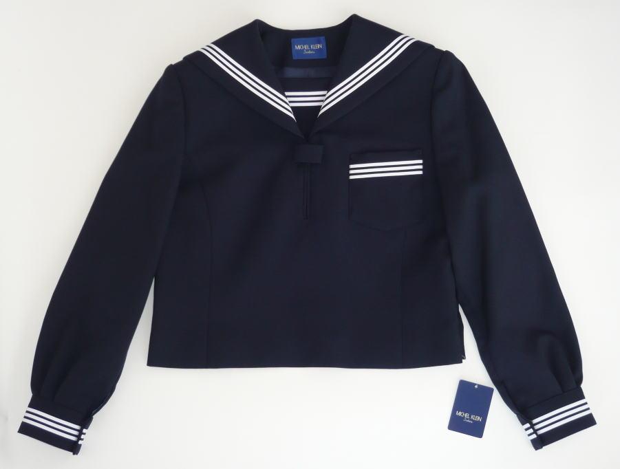 セーラー服上衣 (紺・3本ライン)ミッシェルクランスコレールウール50%/ポリエステル50%