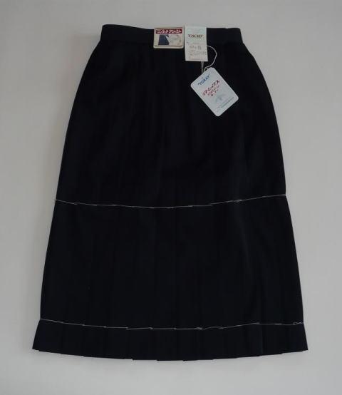 紺スカート(ウール15%) 車ヒダ24本 852...の商品画像