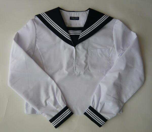 夏用 長袖セーラー服上衣 (黒・3本ライン)MICHEL KLEIN ミッシェルクランスコレール