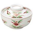 赤絵京風小花 煮物碗 和食器 蓋向・円菓子碗 業務用