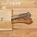 【 17cm 中型犬用 】【2個セット】エゾ鹿の角 犬 おや...