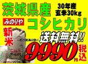 新米30年産  茨城県産コシヒカリ玄米30kg送料無料 無料精米 【smtb-TD】【saitama
