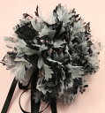 ♪Corsage in black chiffon ♪ corsage wedding ceremony, a graduation ceremony, an entrance ceremony, the party for recommended four circles