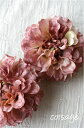 可愛い ポンポンダリアのコサージュ(ライトモーブ) 造花 インテリア アレンジ 髪飾り