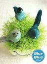 *青い鳥*ブルーバード*3匹set造花 雑貨 インテリア ガーデン雑貨